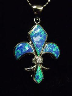 Put on my necklace for the day~~~Fleur de lis necklace.
