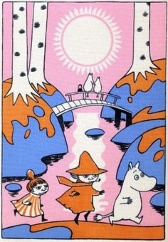 """An immersive new exhibition at London's Southbank Centre features sketches and other artworks by Tove Jansson, the author and illustrator who created the Moomin series. """"Design for Coloring Book. Moomin Valley, Illustration Noel, Tove Jansson, Book Images, Vintage Comics, Bunt, Art Inspo, New Art, Fairy Tales"""