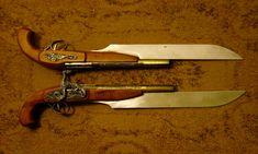 R Outland Armor's Steampunk Pistols.it's a pistol with a built-in bayonet! Steampunk Pistol, Arte Steampunk, Steampunk Cosplay, Weapons Guns, Guns And Ammo, Glock Guns, Armas Wallpaper, Steampunk Accessoires, Grandeur Nature