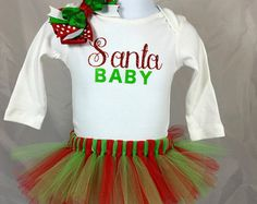 Baby Girl Christmas Outfit, Baby Girl Christmas Tutu, Christmas Outfit, Baby Girl First Christmas, Newborn Christmas Outfit, Baby Christmas