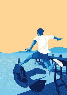 Matt Taylor   Illustrators   Central Illustration Agency, Colour, Sky, Water, People, Illustrator, Flat, Graphic