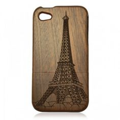 Vintage Eiffel Tower Walnut iPhone Case For Iphone 4 / 4s/5 for only $24.90 ,cheap Wood Iphone Cases - Iphone Accessories online shopping,Model:iphone 4/4s /5 Material:Walnut