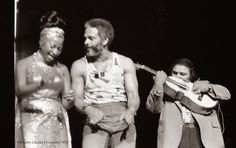 Maelo junto a Celia Cruz y a Yomo Toro, en una presentación de Fania All Stars