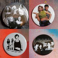 Just put these up in my shop- Link in bio!! #rainbowalternative #pin #pins #pingame #pingamestrong #handmade #feminism #feminists #spicegirls #thespicegirls #girlpower #foxfire #angelinajolie #foxfiremovie #thegogos #gogos #buffy #buffythevampireslayer #90s #lukeperry by rainbowalternative
