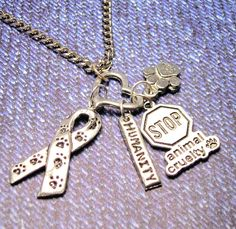 Stop Animal Cruelty Have some Humanity  charm by MyTinyTemptations, $19.00