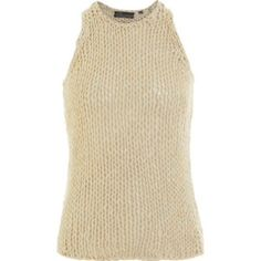 VINCE Beige Chunky Open Knit High Neck Tank Top Excellent Pre-Owned VINCE Beige Open-Knit Tank. 100% Cotton. High-Cut Neckline. Tank Sleeves---Cut with a Racerback. Size Small. Minimal boho style, similar to brands like: Brandy Melville, Alexander Wang, Helmut Lang, ACNE, Zara, TopShop & Isabel Marant. Vince Tops Tank Tops