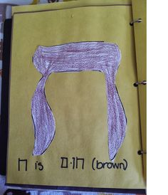 Hands on activity when teaching Hebrew letters. Here is the letter Chet!