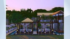 Check out this lot in The Sims 4 Gallery! - #balistyle #dining #beachstyle #restaurant, newly modified. Added water fountain etc.