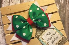 Christmas hair bow 4.5 inch hair bow for by PinkHairBowBoutique