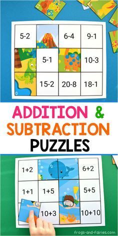 This colorful Addition and Subtraction to 20 Puzzles printable includes 6 different puzzles, that'll help your little learners to practice! These puzzles are very popular in our home. My daughter… More