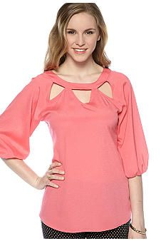 Lily White Cut Out Blouse - Belk.com
