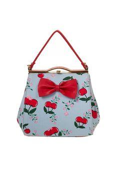 1950s Rockabilly Cherry Mini Bag Handbag Purse $38.95 AT vintagedancer.com