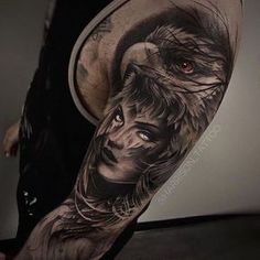 Adler und Augen Arm Tattoo Eagle and eyes arm tattoo Native Tattoos, Native American Tattoos, Eagle Tattoos, Arrow Tattoos, Forearm Tattoos, Body Art Tattoos, Sleeve Tattoos, Tatoos, Tattoo Arm