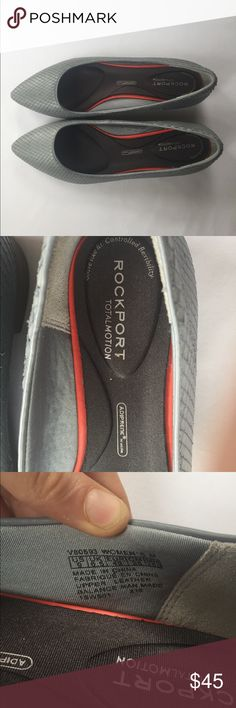 Rockport Total Morion Gray Flats, 9 These super comfy Rockport Adiprene by Adidas Gray Flats, 9 are great for the office or out shopping with friends! In great condition, hardly noticeable wear on the back heels, comes from a smoke free home. Rockport Shoes Flats & Loafers