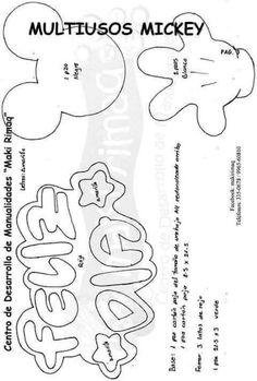 Eu Amo Artesanato: Porta treco do Mickey com molde Summer Humor, Silhouette Portrait, Disney Diy, Mickey Minnie Mouse, Felt Diy, Stuffed Toys Patterns, Doodle Art, Paper Art, Embroidery Designs