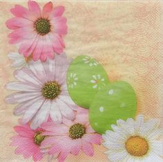Set of 2 pcs 3-ply ''Easter'' paper napkins for by MSNapkinsSupply