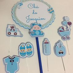 Topper lindo para o Chá do Joaquim! Cake Toppers, Handmade, Image, Instagram, Art, Cakes, Parties, Toddler Girls, Hand Made
