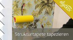 Strukturtapete tapezieren