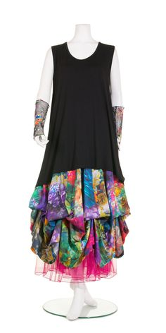 She's Crazy Multicolour Floral Tier Skirt