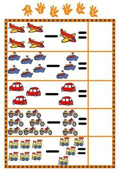 Autismo. Schede didattiche per rendere la Matematica divertente | autismocomehofatto Kindergarten Math Worksheets, Fun Worksheets, Preschool Activities, Preschool Writing, Numbers Preschool, Kindergarten Special Education, Kids Education, Math For Kids, Fun Math