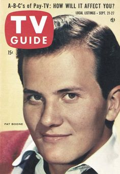 My idol growing up ! I adored him! Radios, Pat Boone, Vintage Television, Cool Magazine, Magazine Covers, Vintage Tv, Vintage Magazines, Watch Tv Shows, Episode Online