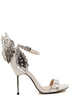 Wings Hollow Out Stiletto Heel Sandals. Stiletto Heels ... 901b050cb9
