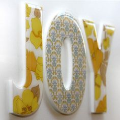 Decor wall letters