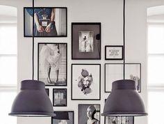 my scandinavian home: The creative studio of Katrin Bååth Inspiration Wand, Interior Inspiration, Gallery Frames, Gallery Walls, Ideas Prácticas, Home And Deco, Scandinavian Home, White Art, Black White