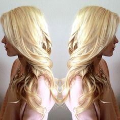 blonde on top with a partial highlight underneath