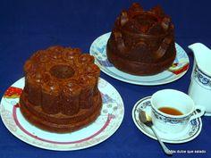 Mini Bundt Cake de Queso, Chocolate y Naranja