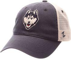 Zephyr Men s UConn Huskies Blue Cream Mesh Trucker Snapback 6d69f697a477