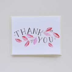 Thank You Note Card by Julianna Swaney