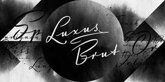 Luxus Brut™ - Webfont & Desktop font « MyFonts