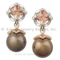 Chocolate Pearl Earrings -