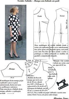 Resultado de imagem para fotos de vestido tubinho com manga em tecido