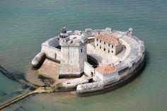 Fort Louvois in France Castle House, Castle Ruins, Medieval Castle, Architecture France, Historical Architecture, Star Fort, Poitou Charentes, Walled City, Beautiful Castles