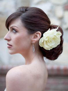 Authentic Off-White Rose Bridal Hair Clip
