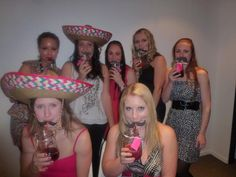 mexican theme party = moustache straws and mason jars.