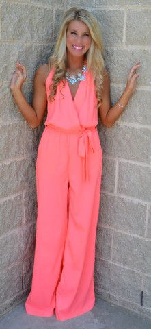 """MEET ME @ THE HALTER JUMPSUIT $44.99 ok I'm really on the fence about these """"jumpers"""" but I kinda like this one. Maybe it's the color"""