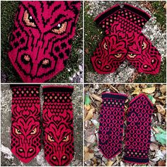 Ravelry: SMAUG mittens pattern by JennyPenny. So awesome! Knitting Charts, Loom Knitting, Knitting Socks, Hand Knitting, Knitting Patterns, Crochet Patterns, Hat Patterns, Stitch Patterns, Knitted Mittens Pattern