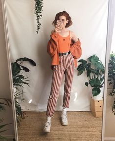 1e472bc6352ed Funky trouser appreciation 🧡 all items worn in these looks are vintage! I  sell similar things over on my Depop if ur curious ✨✨✨✨
