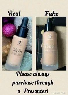 Real vs fake Younique Liquid Foundation
