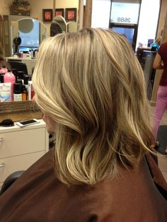 Highlights and long bob