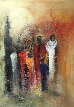 Handmade Oil Painting On Canvas Abstract Painting Krishna Modern Art P – cauliflowerral Abstract Metal Wall Art, Abstract Line Art, Abstract Portrait, Abstract Canvas, Black Abstract, Moon Painting, Figure Painting, Modern Art Paintings, Abstract Paintings