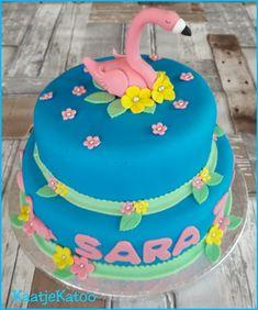 Flamingotaart Birthday Cake, Desserts, Food, Tailgate Desserts, Birthday Cakes, Deserts, Eten, Postres, Dessert