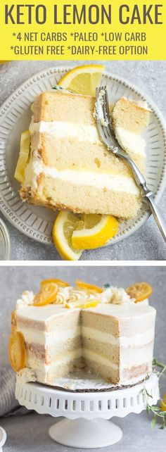 This Keto Lemon Cake is deliciously moist, soft and full of bright lemon flavors. This Keto Lemon Cake is deliciously moist, soft and full of bright lemon flavors. This recipe is ea Lemon Recipes, Easy Cake Recipes, Dessert Recipes, Easter Recipes, Recipes Dinner, Healthy Lemon Cake Recipe, Summer Recipes, Dinner Ideas, Recipe Tasty