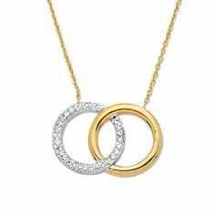 """14K Real Yellow White Gold Diamond Cut Open Circle of Life Charm Necklace 18"""" . $309.00. Length -18"""". 30 day Money back guarantee.. 14K Real Yellow White Gold Diamond Cut Open Circle of Life Charm Necklace 18"""". Free Shipping within USA via USPS First Class.. Weight: 3.5 grams. Save 46%!"""