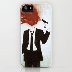 head shot iPhone Case by Joedunnz - $35.00