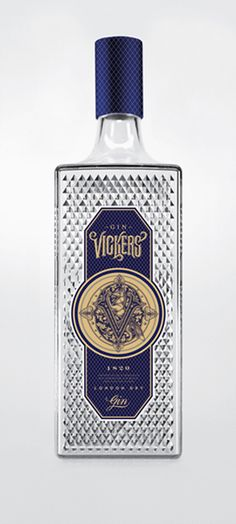 Vicker's Gin Label designed by Tattoo artist MINKA SICKLINGER <---