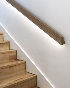 Best Modern Simple Sleek Wall Mounted Wooden Handrails In 2019 400 x 300